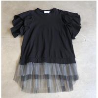 nunuforme /ダブルフリルT nf13-975-508A Black F(WOMENS)