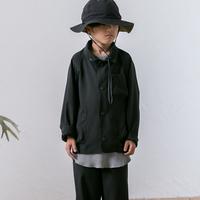 MOUN TEN. / sheersucker jacket MT201012-c black 1(adult)