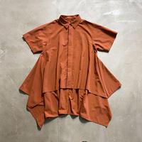 nunuforme / サイドドレープシャツ nf15-565-131A Brown 1(155).2(160/F)