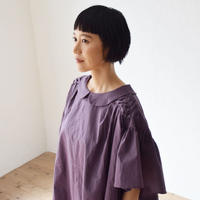 nunuforme / オルタネイトタックブラウスnf13-543-010A Purple F(WOMENS)