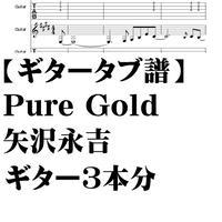 【ギタータブ譜3本分】Pure Gold/矢沢永吉