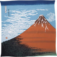 Wrapping cloth(Ukiyo-e,Mt.red Fuji,Tango Chirimen)