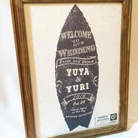 《semiorder》 Surf board ウェルカムボード/A3台紙のみ