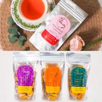 フェリシエッタ有機紅茶ダージリン&小麦のビスケット3種類各1個