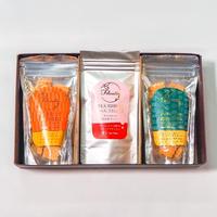 有機紅茶ダージリン・小麦の恵みギフトセット(にんじん・かぼちゃ・さつまいも)
