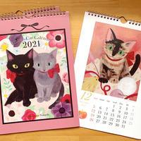 リボンキャット カレンダー2021/A4月めくりタイプ