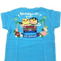 沖縄★ドライブシーサーTシャツ★子供用90~120★ブルー★国道58号線