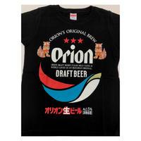 沖縄★オリオンドラフトビール Tシャツ シーサーデザイン 黒★フォーカート★子供用も