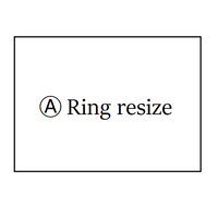 Ⓐ 《1点物》 Ring resize
