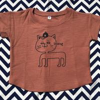 目が泳ぐ猫 KIDS Tshirts