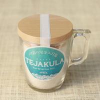 TEJAKULA 完全天日塩 [あら塩 マグカップ入り] 160g <完全天日海塩・フェアトレード> ✫おしゃれで持ちやすい強化マグカップ入りでそのまま食卓に✫