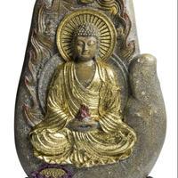 金のブッダ オルゴナイト スタンド付き《ボヘミアンオルゴナイト》約15.5×1cm