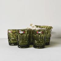 Noritake ノリタケ オールドノリタケ ヤングカラー ガラス器(グラスと深皿と平皿)各5脚 計15点セット  ヴィンテージガラス器  デッドストック完品