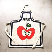 70s ヴィンテージ エプロン アップルモチーフ 林檎柄 デッドストック 未使用品
