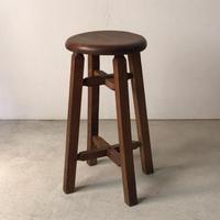 アンティーク 丸椅子  木製スツール  完品