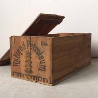 アンティーク木箱  蓋有り 荒材  頑丈 好グラフィック  古い木箱  ヴィンテージウッドボックス  道具箱