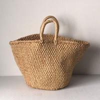 ラフィア マルシェバッグ  かごバッグ 編みかご 買い物籠 市場籠 トートタイプ 天然素材 ナチュラル  鞄  美品