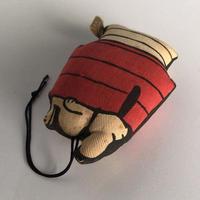 ヴィンテージ スヌーピー の綿入りマスコット  ぬいぐるみキーホルダー ツイルSNOOPY  オールドスヌーピー  コットンチャーム made in hongkong