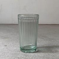 アンカーグラス  CAN アンカー3号 高さ約12cm  島田製作所  昭和初期  アンティークグラス コップ  タンブラー 淡いグリーン 鉛ガラス  完品
