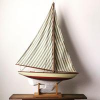 アンティーク ヨット  船舶模型  精密模型  高級素材 ヴィンテージ木製帆船ミニチュア 状態良好