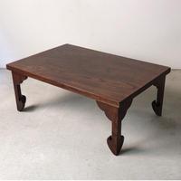 欅 一枚天板の小座卓  ちゃぶ台     経机  仏教卓   厚みのある天板に絶妙な装飾脚  素敵な卓です。小さな机。