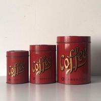 COFFEE ビーンズ缶(大中小)スタック缶 山本珈琲株式会社 ヴィンテージコーヒービーンズボトル 珈琲豆の保存容器 古い缶 カンカン レトロ缶