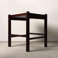 北海道民芸家具  樺無垢材 #670    スクエアスツール  サイドテーブル