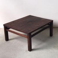 古い小さな座卓   重量感たっぷり約5kgの高級古材の座卓  明治 大正 時代 当時物  ローテーブル ちゃぶ台  アンティーク家具
