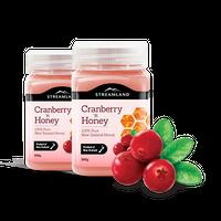 【香りと程よい甘さが人気商品】ニュージーランド クランベリーハニー 500g