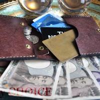 イタリアンレザー・革新のプエブロ・コンパクト2つ折り財布(ショコラ)