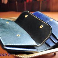 革の宝石ルガトー長財布(紺×緑)