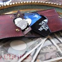 イタリアンレザー・革新のプエブロ・コンパクト2つ折り財布(コッチネラ×ショコラ)