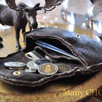 やみつきエルクのミニマム財布(焦げ茶)