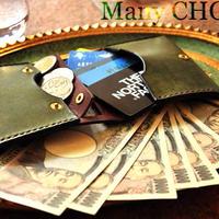 イタリアンレザー・革新のプエブロ・コンパクト2つ折り財布(オリーバ×ショコラ)
