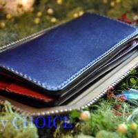 セミオーダールガトー・長財布(紺×赤×緑)