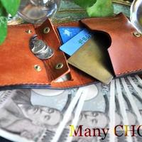 イタリアンレザー・革新のプエブロ・コンパクト2つ折り財布(コニャック)