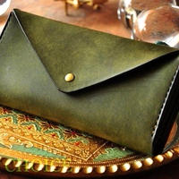イタリアンレザー・革新のプエブロ・長財布2(オリーバ)