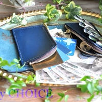 セミオーダー・アリゾナ・2つ折りコインキャッチャー財布(アルノブルー)