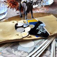 やみつきエルクのコンパクト2つ折り財布(レモンドロップ)
