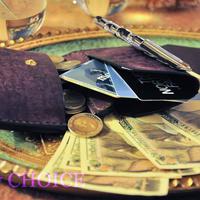 イタリアンレザー・革新のプエブロ・2つ折りコインキャッチャー財布(改)(バイオレット)