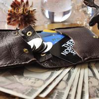 やみつきエルクのコンパクト2つ折り財布(焦げ茶)