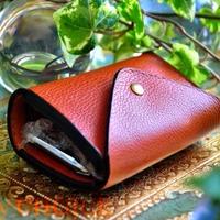 イタリアンオイルレザーアリゾナ・コインキャッチャー財布(改)(ウィスキー)