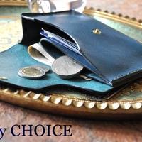イタリアンオイルレザーアリゾナ・ミニマム財布(アルノブルー)