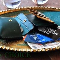 イタリアンレザー・帝王ブッテーロ・2つ折りコインキャッチャー財布(改)(グリーン)