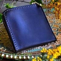 イタリアンバケッタ・エルバマット・L型財布(オリーブ)