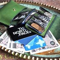 イタリアンバケッタ・エルバマット・2つ折りコインキャッチャー財布(改)(グリーンアップル)