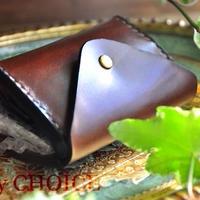革の宝石・ルガトー・コインキャッチャー財布(改)(茶)