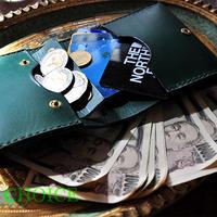 イタリアンレザー・帝王ブッテーロ・コンパクト2つ折り財布(グリーン)