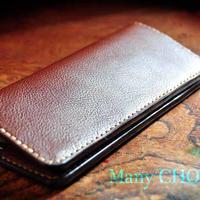 イタリアンオイルレザーアリゾナ・長財布(チョコ)
