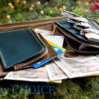 スムースプルアップレザー・二つ折りコインキャッチャー財布